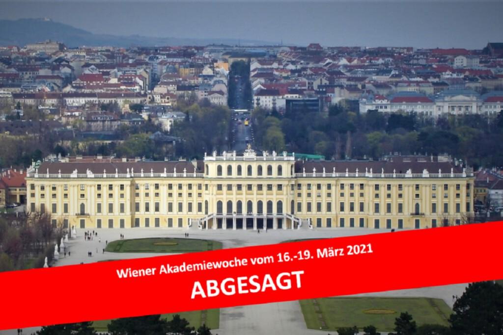 Wiener Akademiewoche abgesagt