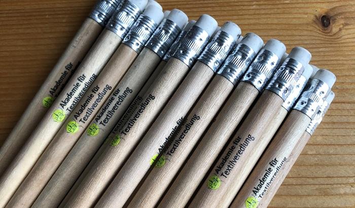 Bleistifte der Akademie für Textilveredlung